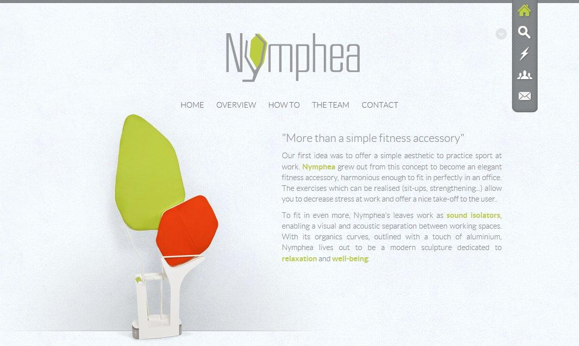 Nymphea Project Website Screenshot