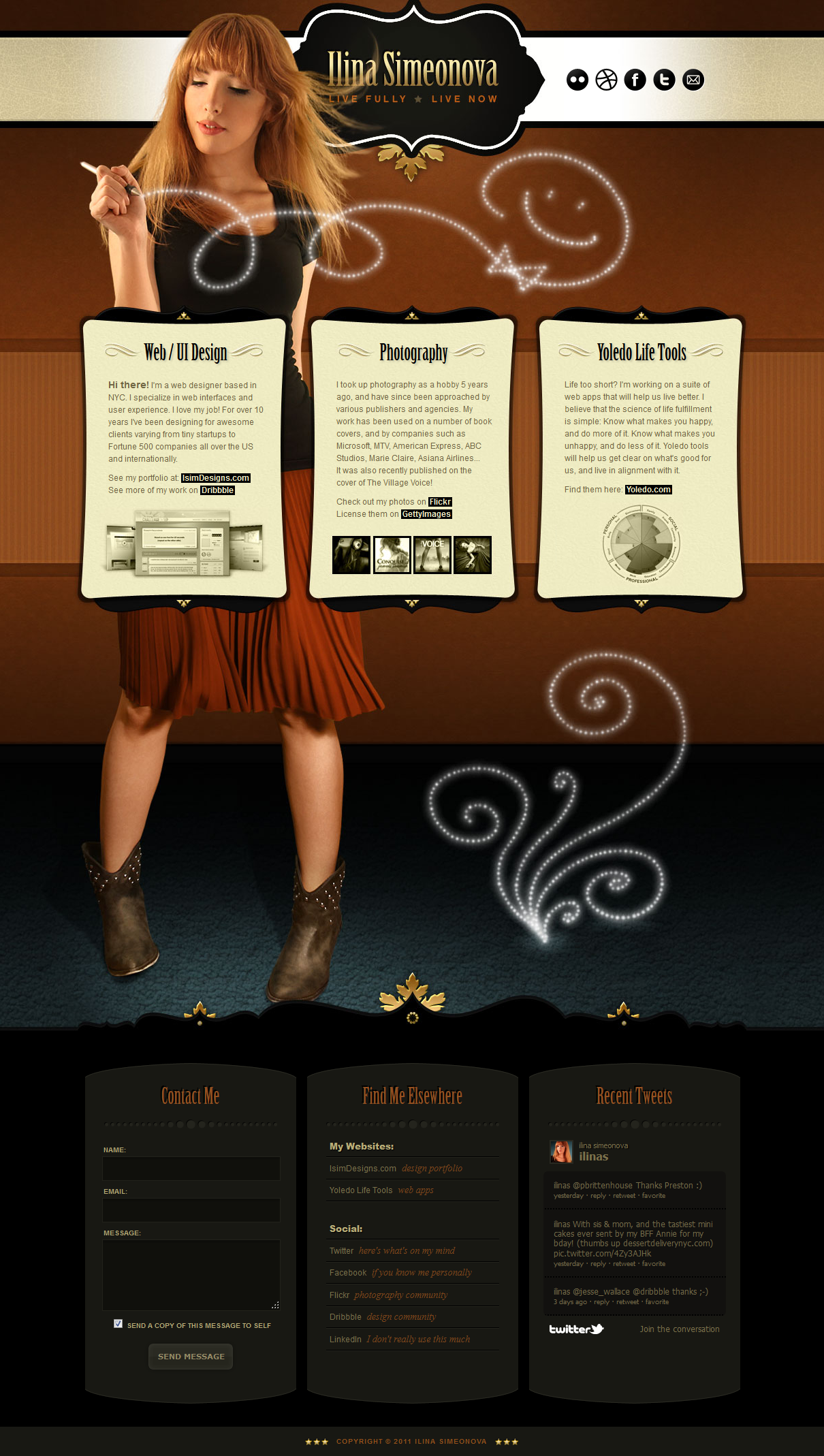 Ilina S. Website Screenshot