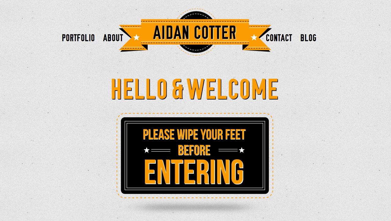 Aidan Cotter Website Screenshot