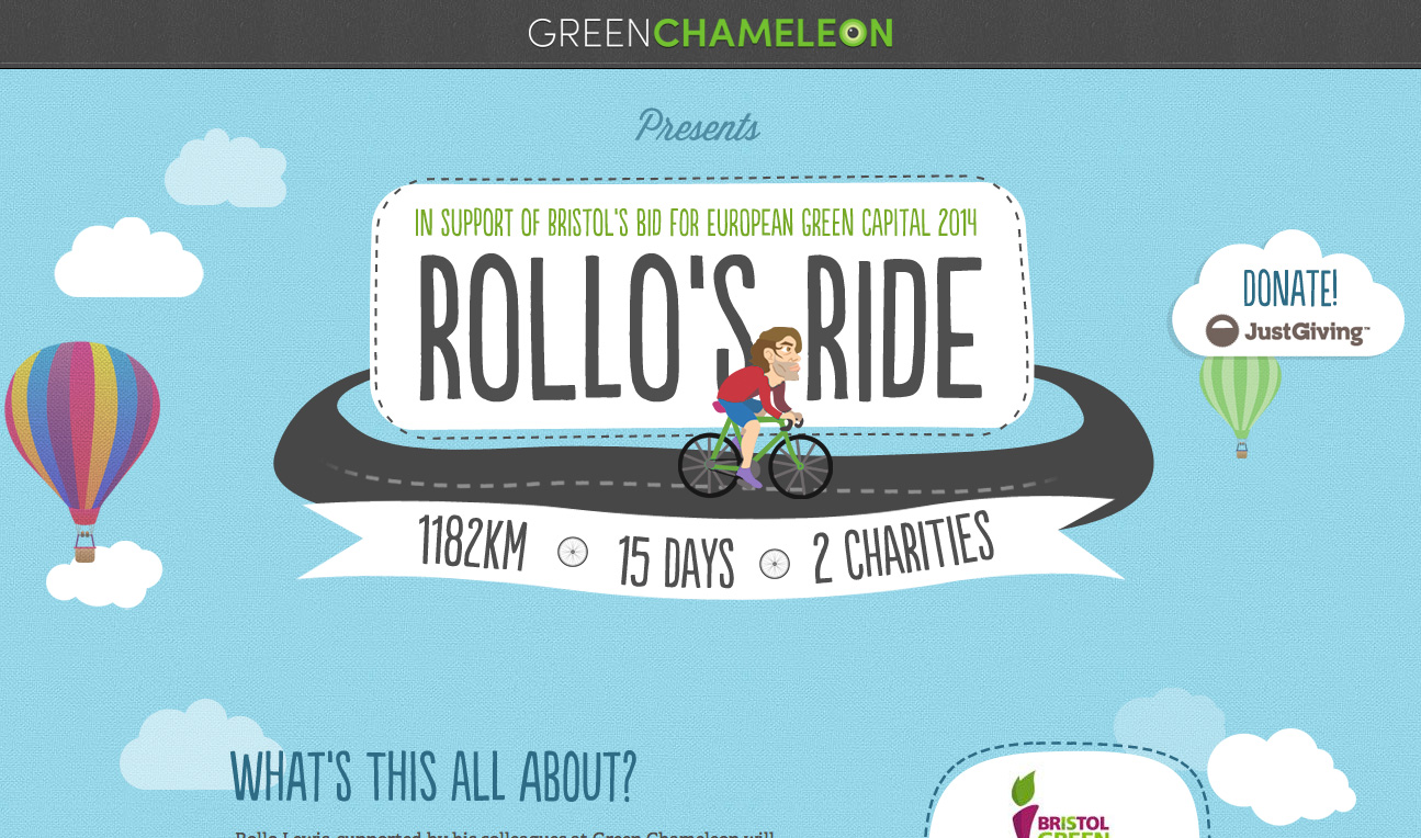 Rollo's Ride Website Screenshot