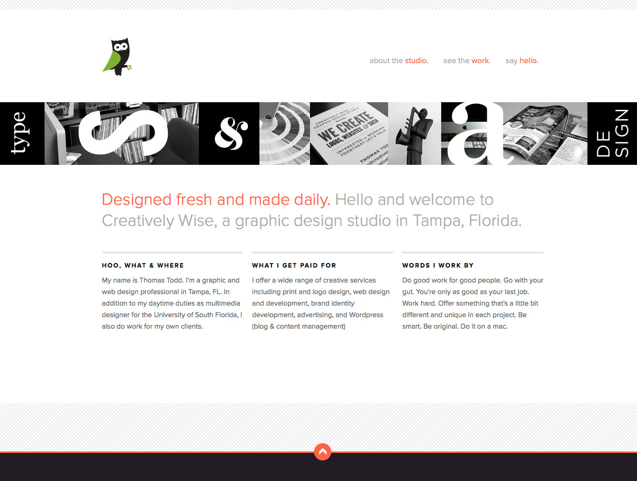 Creatively Wise Website Screenshot