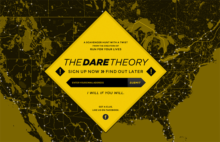 The Dare Theory Website Screenshot
