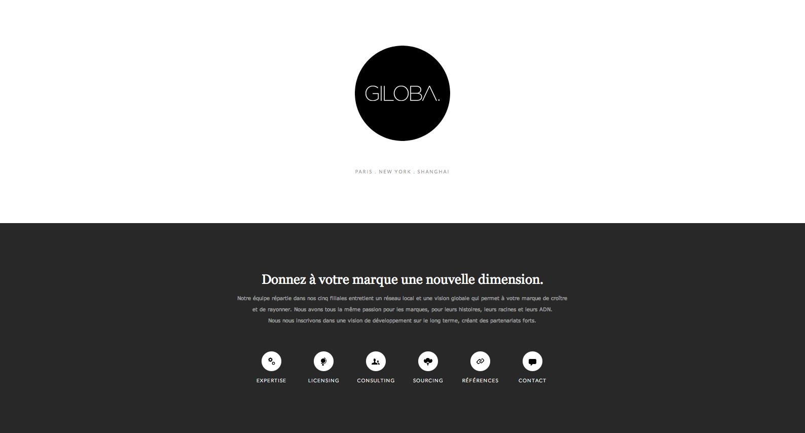 Giloba Website Screenshot