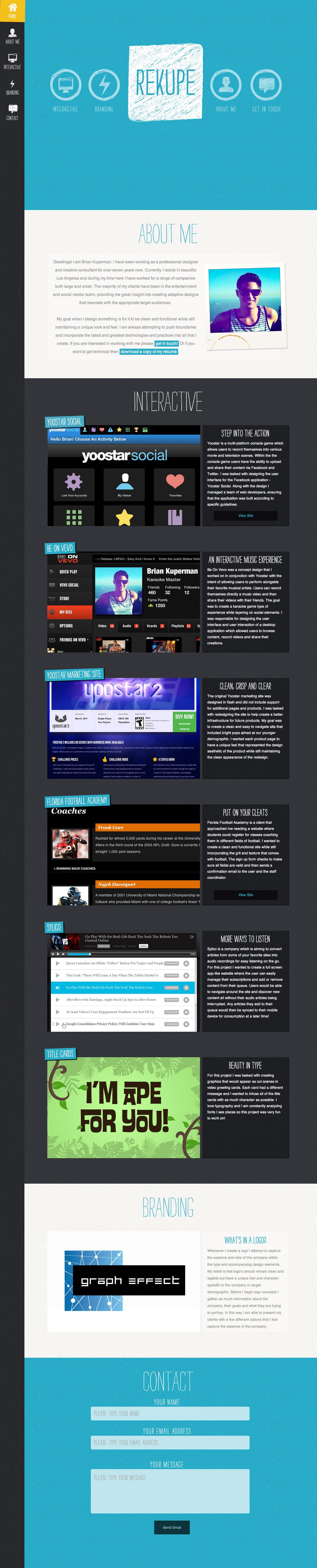 Rekupe Website Screenshot