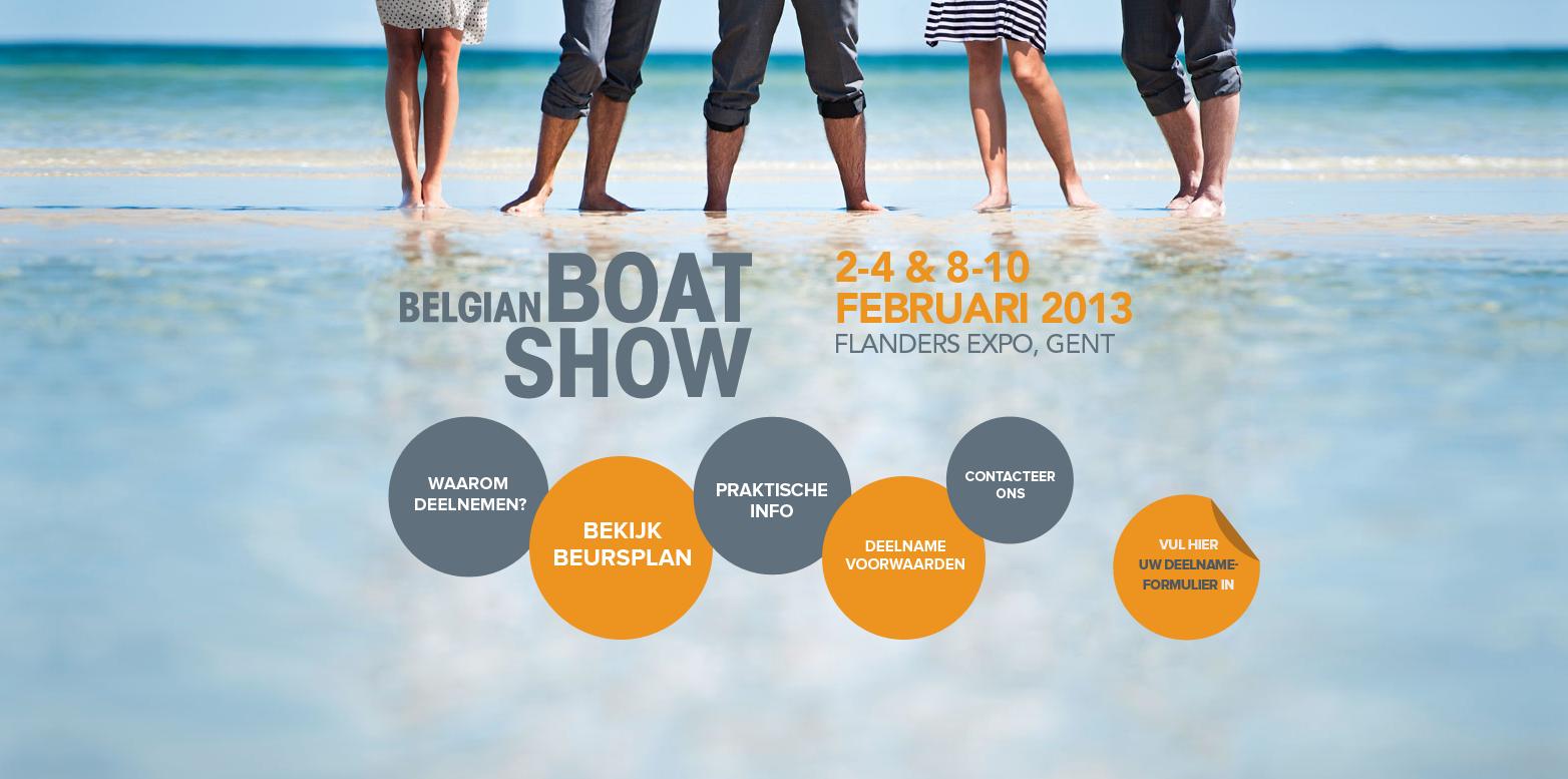Belgian Boat Show 2013 Website Screenshot