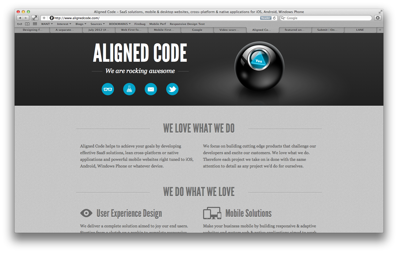 Aligned Code Inc. Website Screenshot