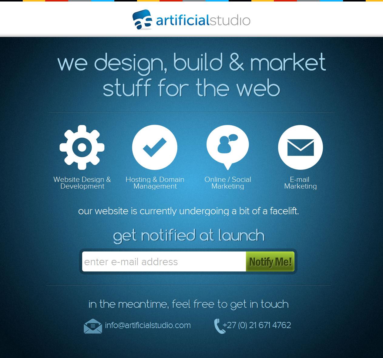 Artificial Studio Website Screenshot