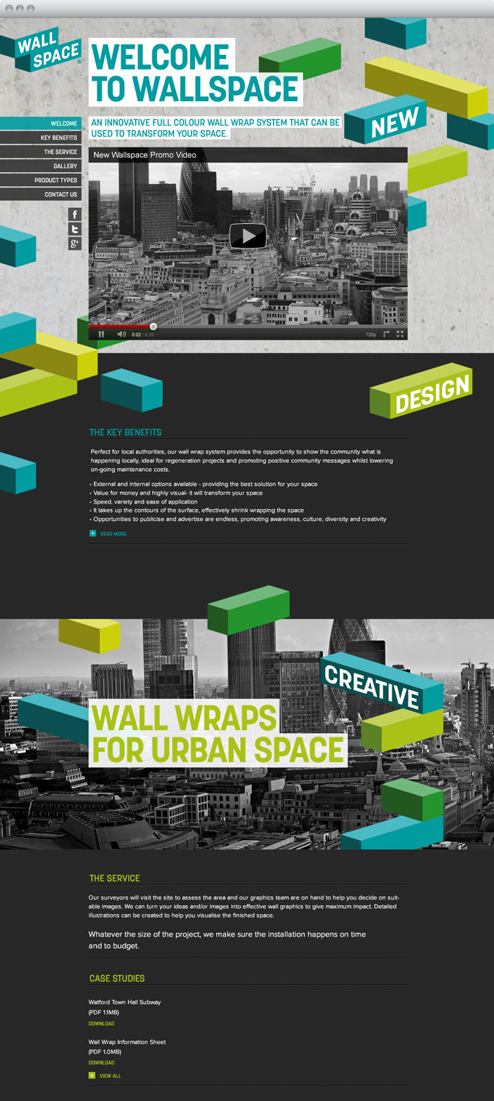 Wallspace Website Screenshot