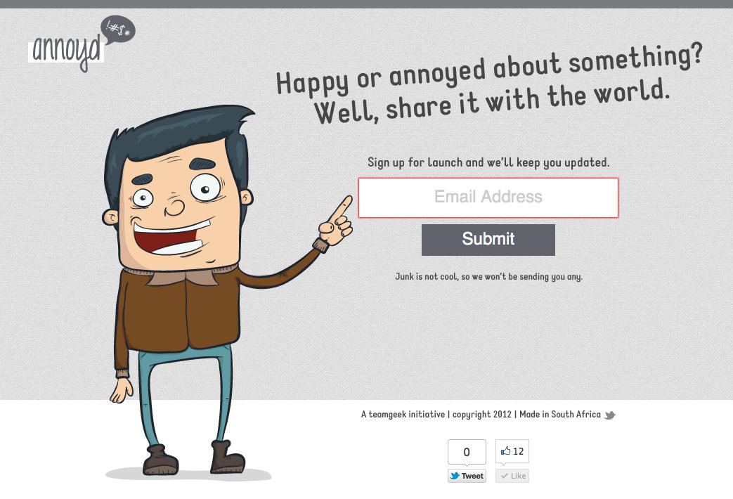 annoyd Website Screenshot