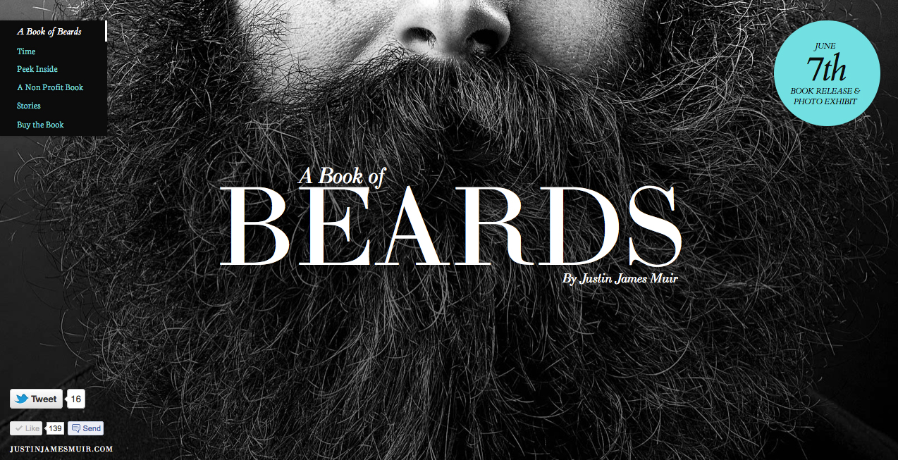 Book of Beards Website Screenshot