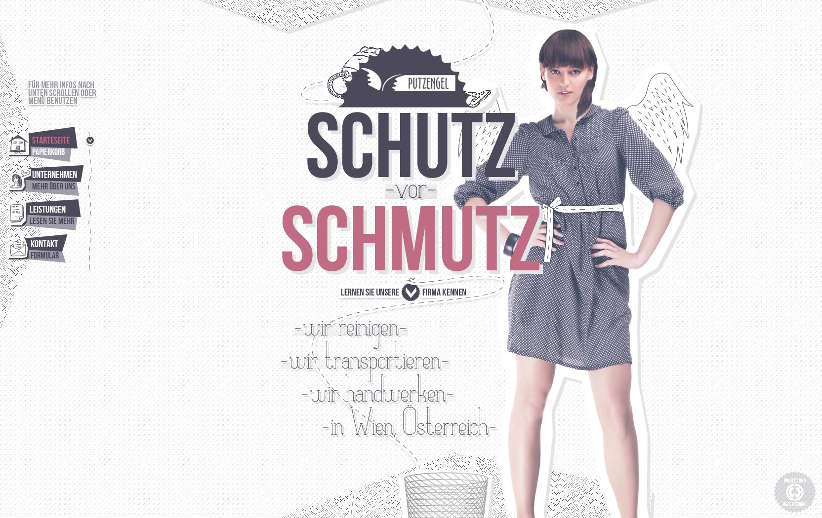 Putzengel Website Screenshot