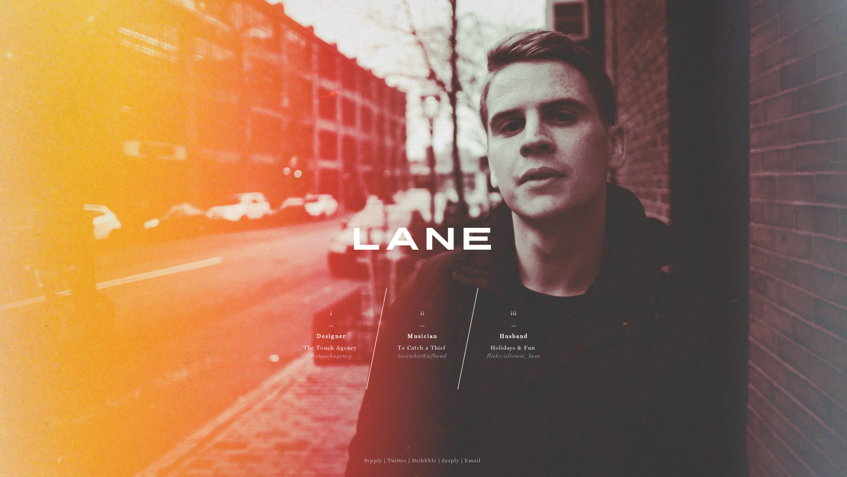 LANE Website Screenshot