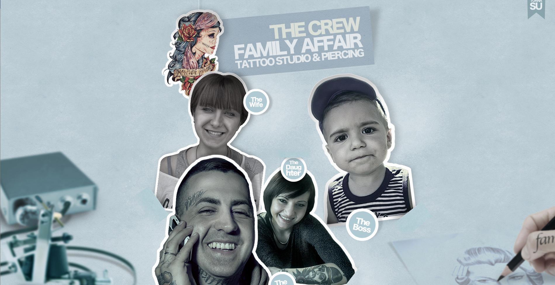 Family Affair Tattoo Studio & Piercing Website Screenshot