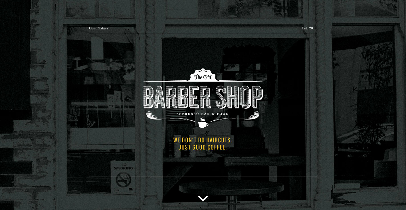 The Old Barber Shop Website Screenshot