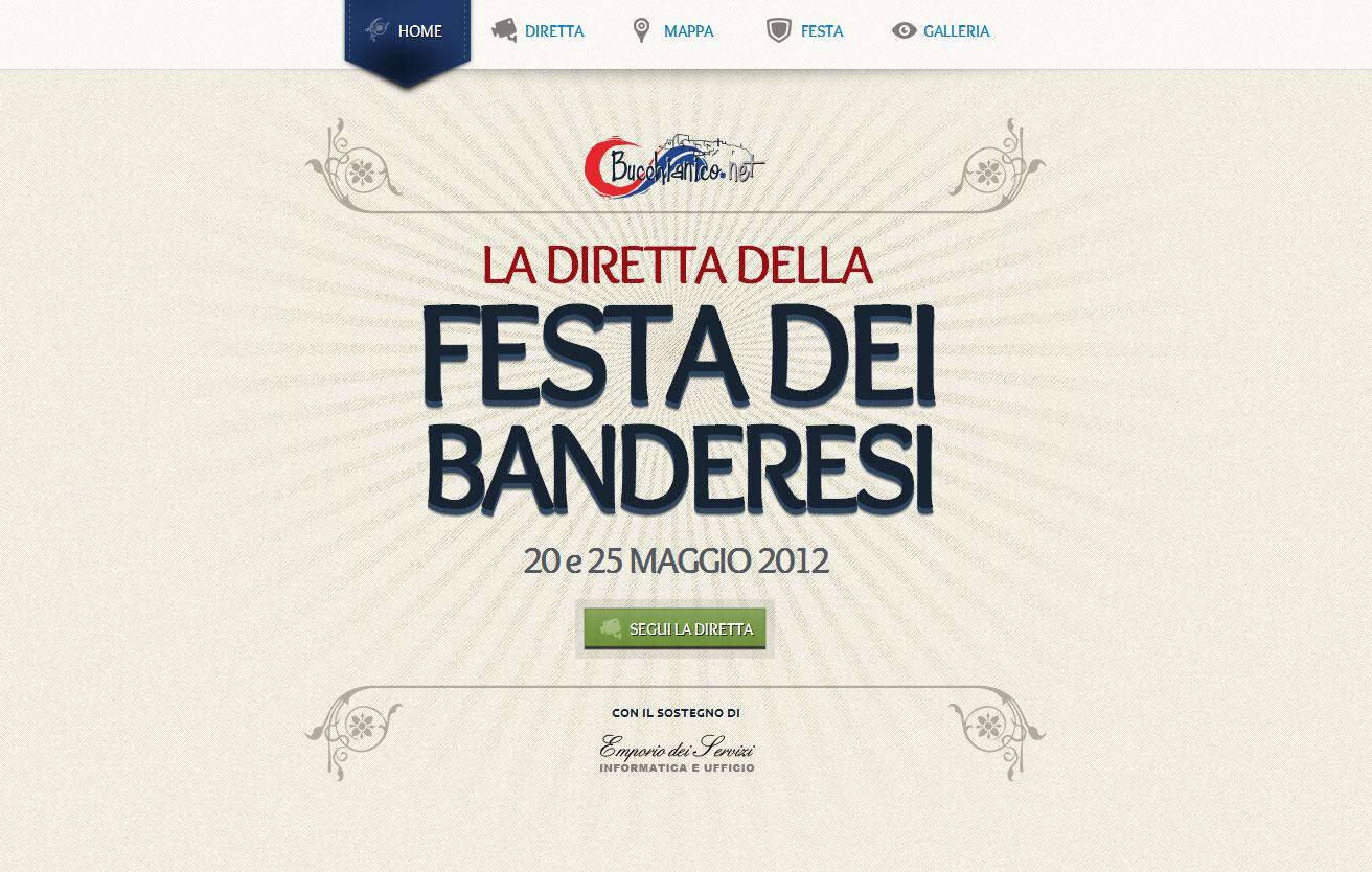 La Festa dei banderesi Website Screenshot