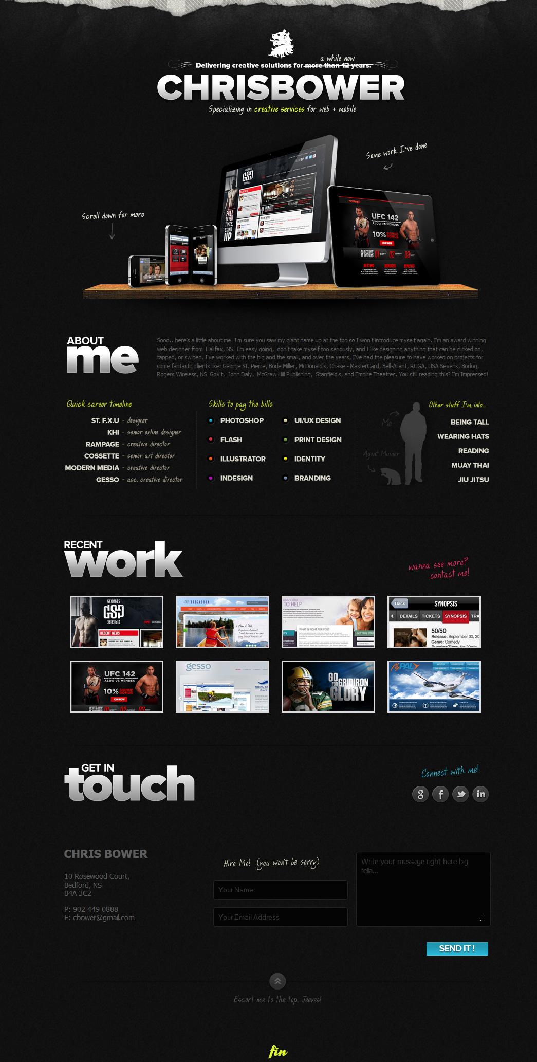 Chris Bower Website Screenshot