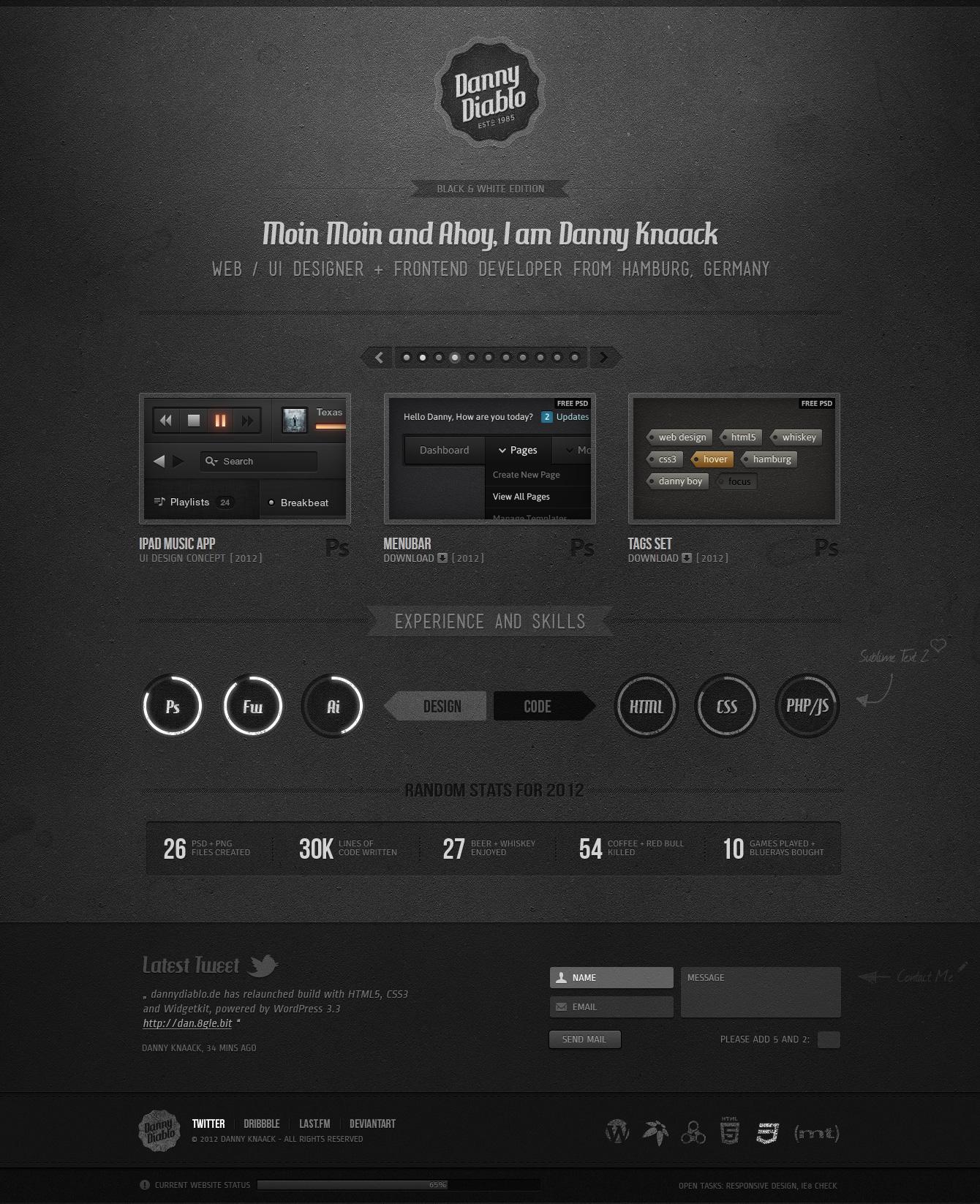 DannyDiablo Website Screenshot