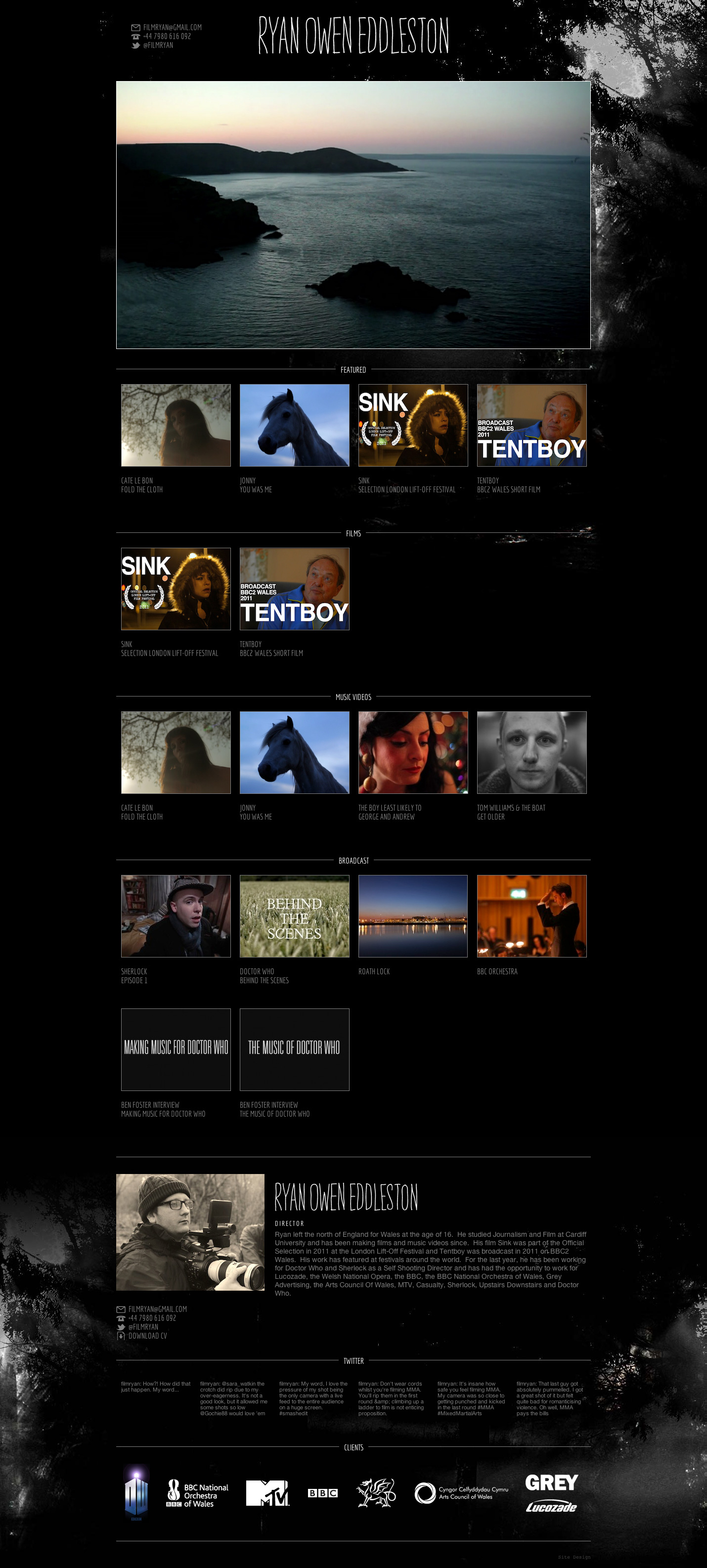 Film Ryan Website Screenshot