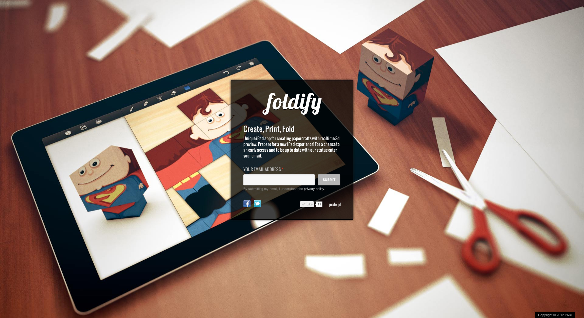 Foldify Website Screenshot
