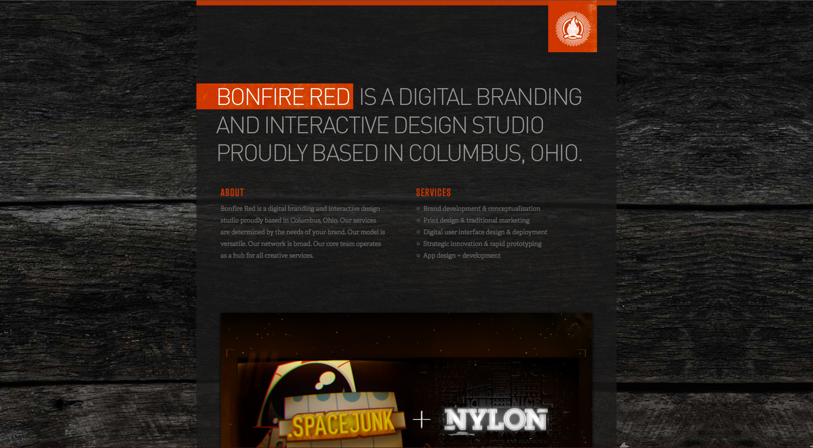 Bonfire Red Website Screenshot