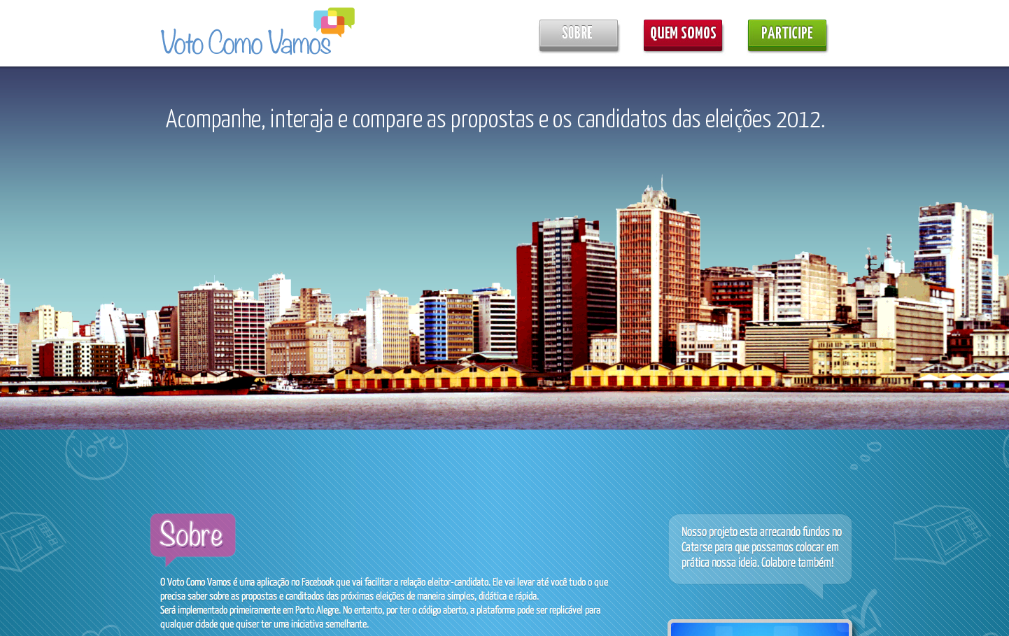 Voto Como Vamos Website Screenshot
