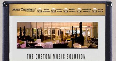 Music Direction Playlist Design Website Screenshot