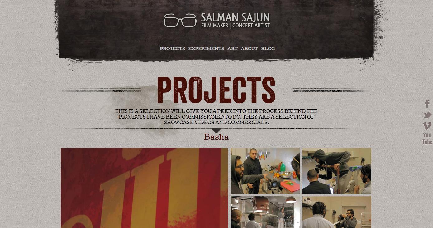 Salman Sajun Website Screenshot