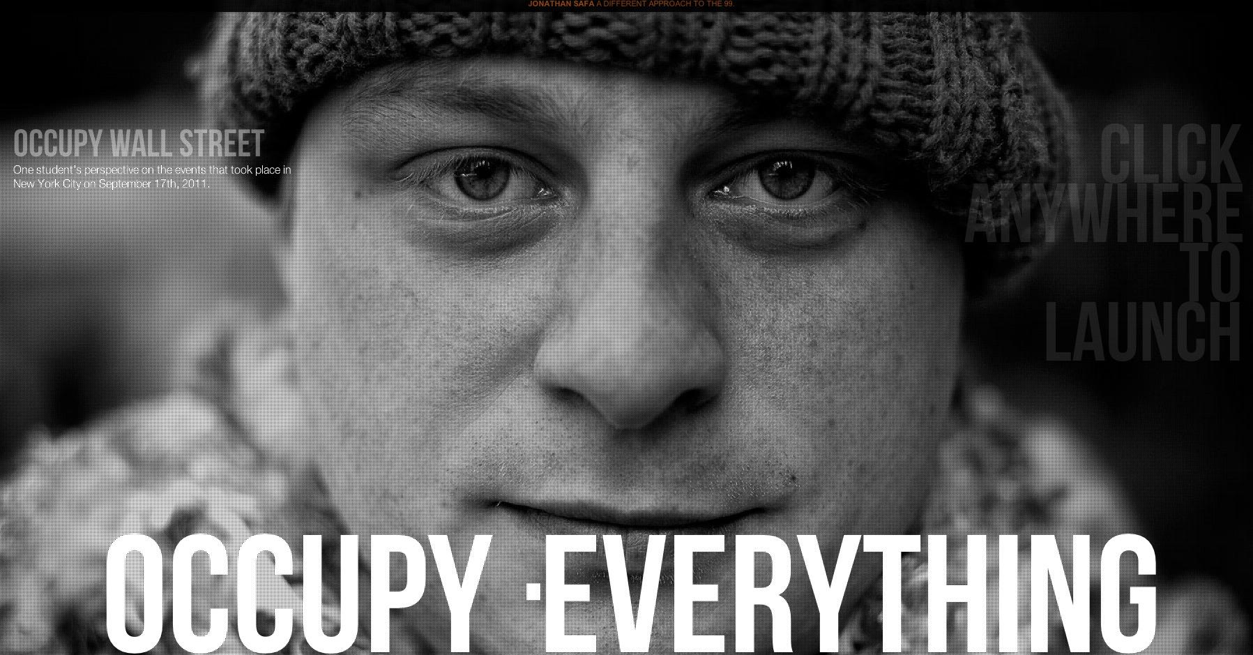 Occupy Wall Street Website Screenshot
