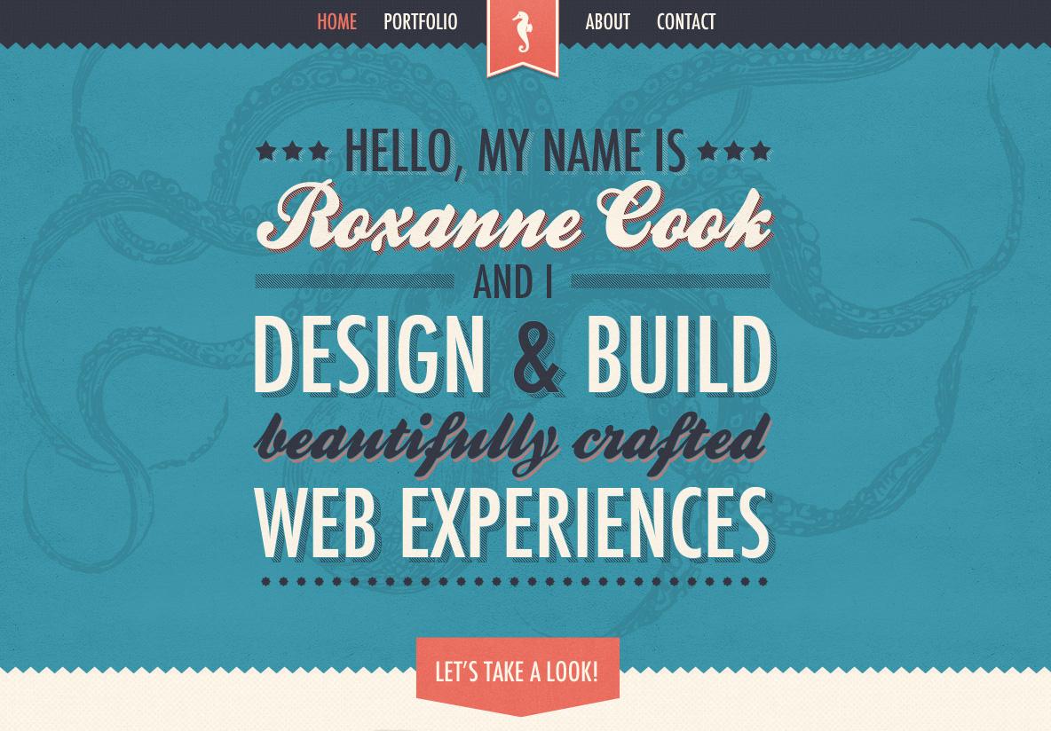 Roxanne Cook Website Screenshot