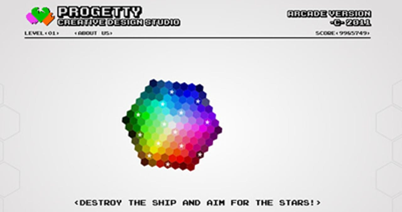 Progetty Studio Arcade Version Website Screenshot