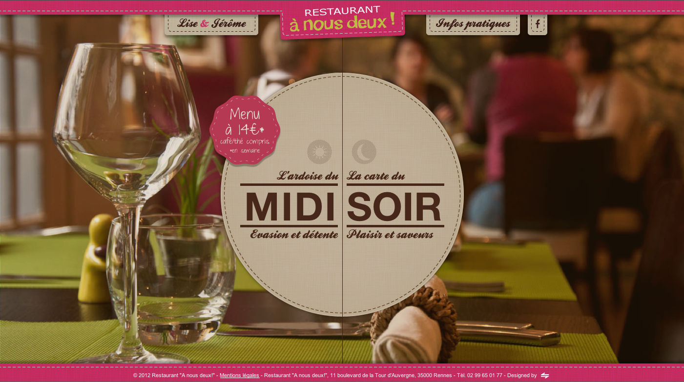 A nous deux! Website Screenshot