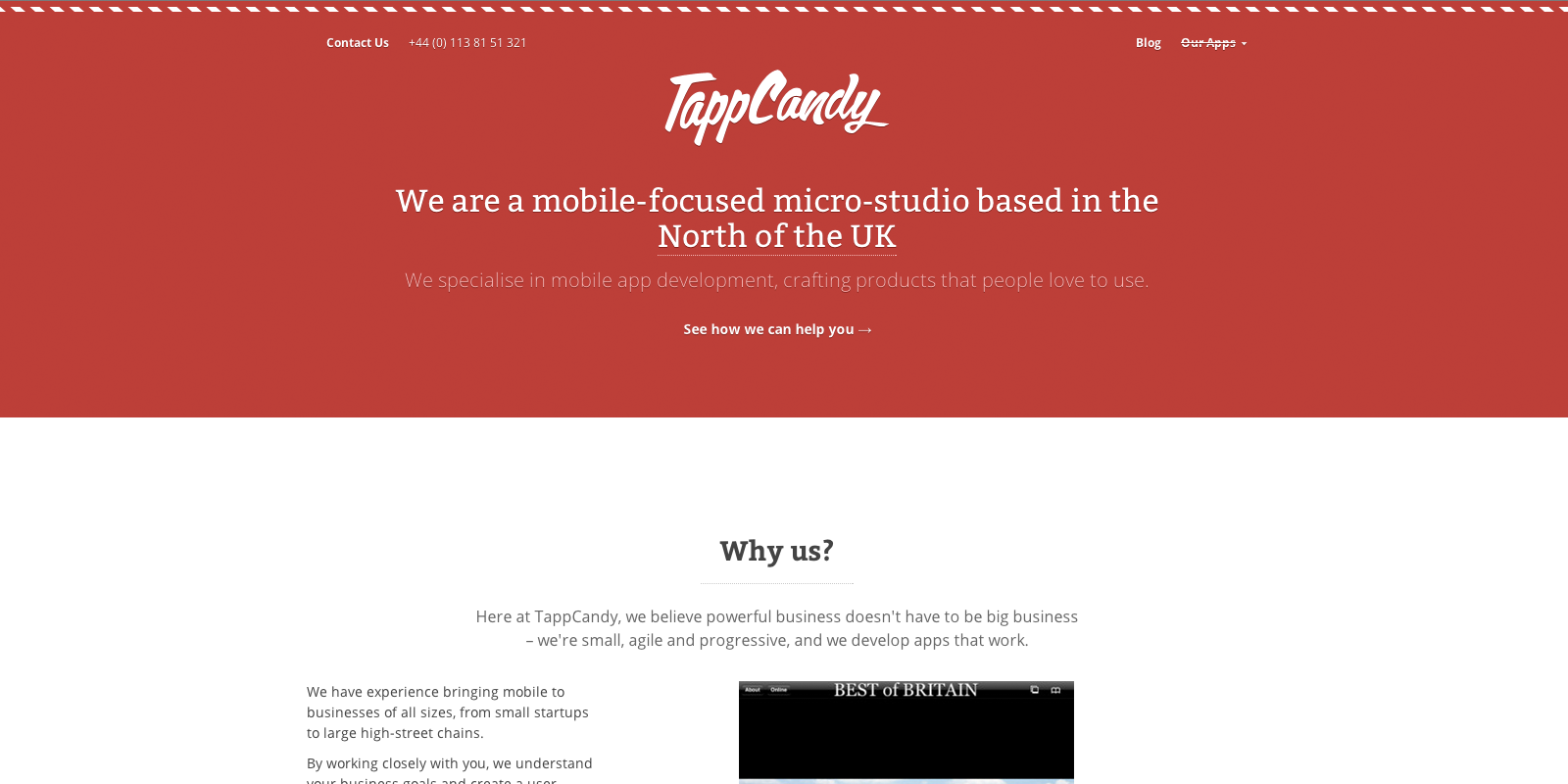 TappCandy Website Screenshot