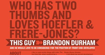 Hoefler & Frere-Jones + Brandon Durham = Pure Magic Thumbnail Preview