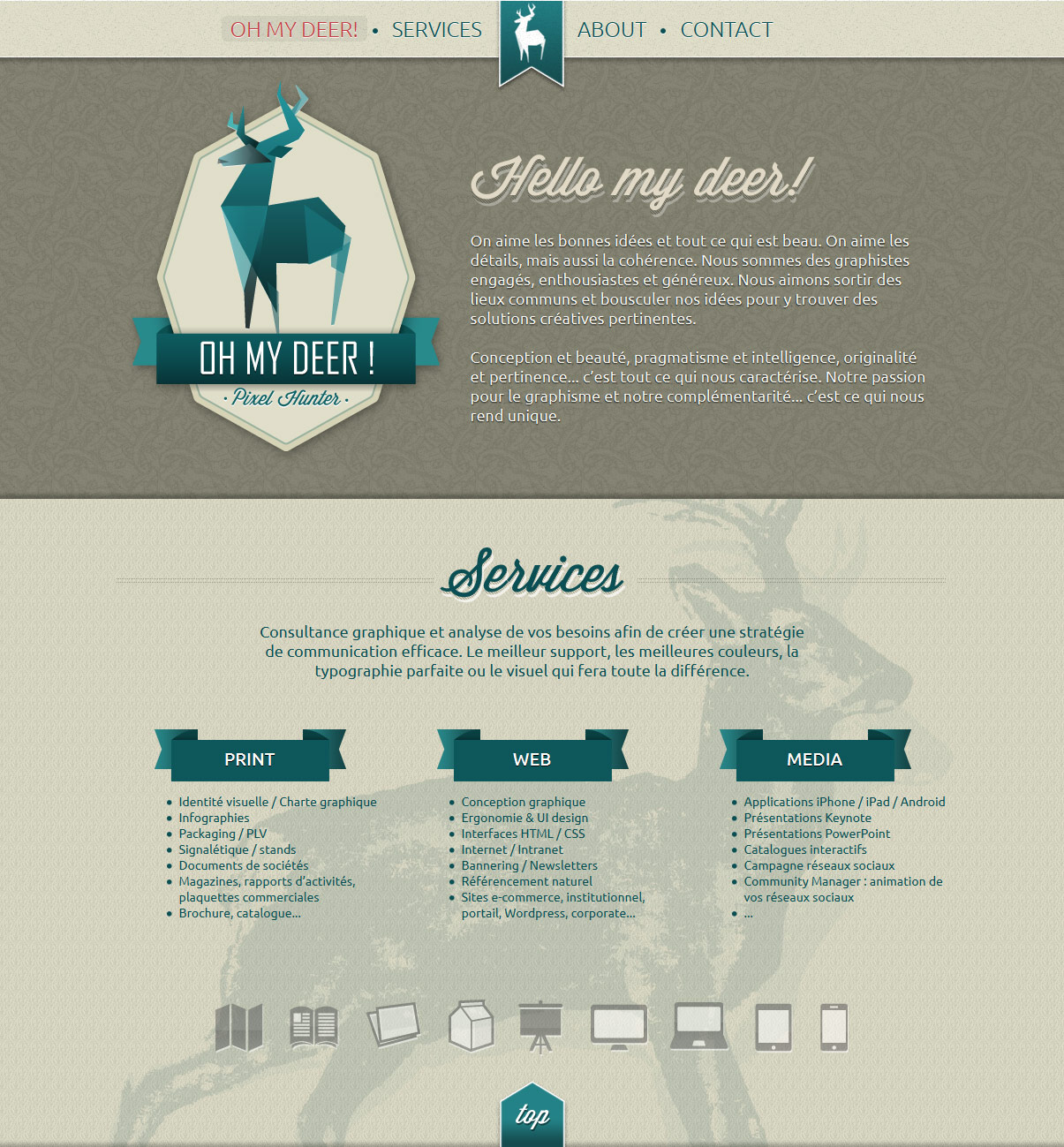 Oh my deer! Website Screenshot