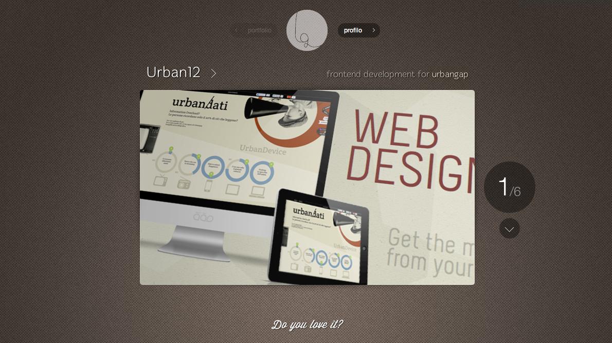 Luca Garbin Website Screenshot