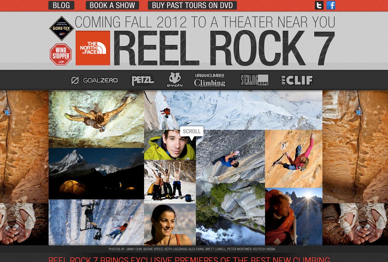 Reel Rock 7 Website Screenshot