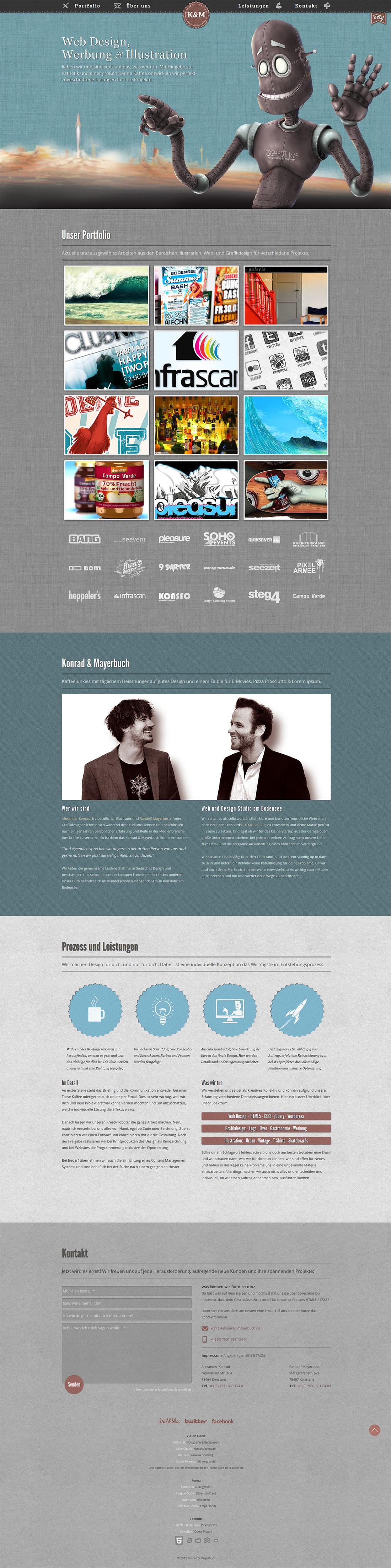 Konrad & Mayerbuch Website Screenshot