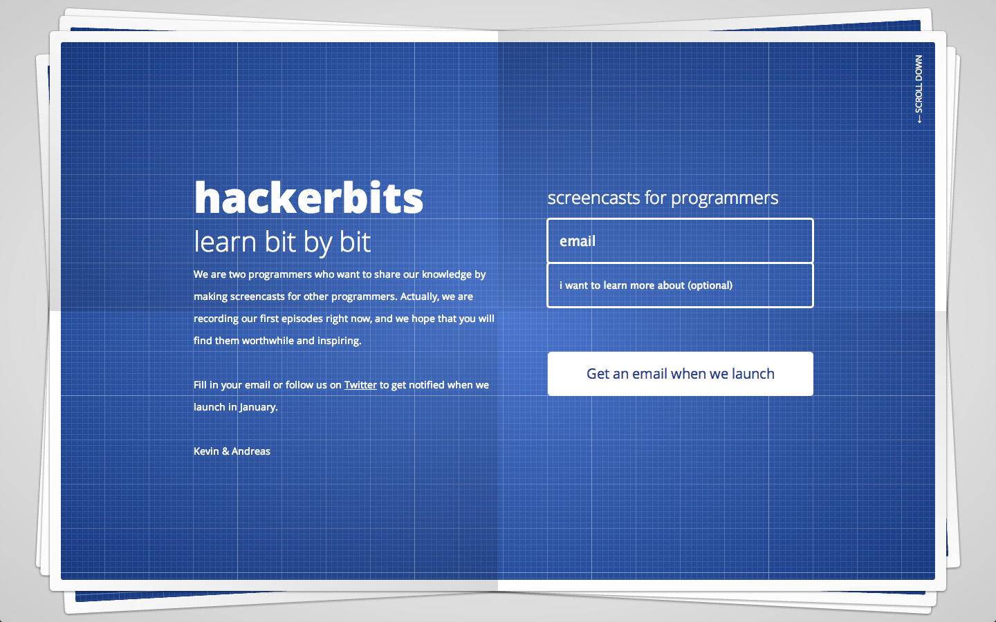 Hackerbits Website Screenshot