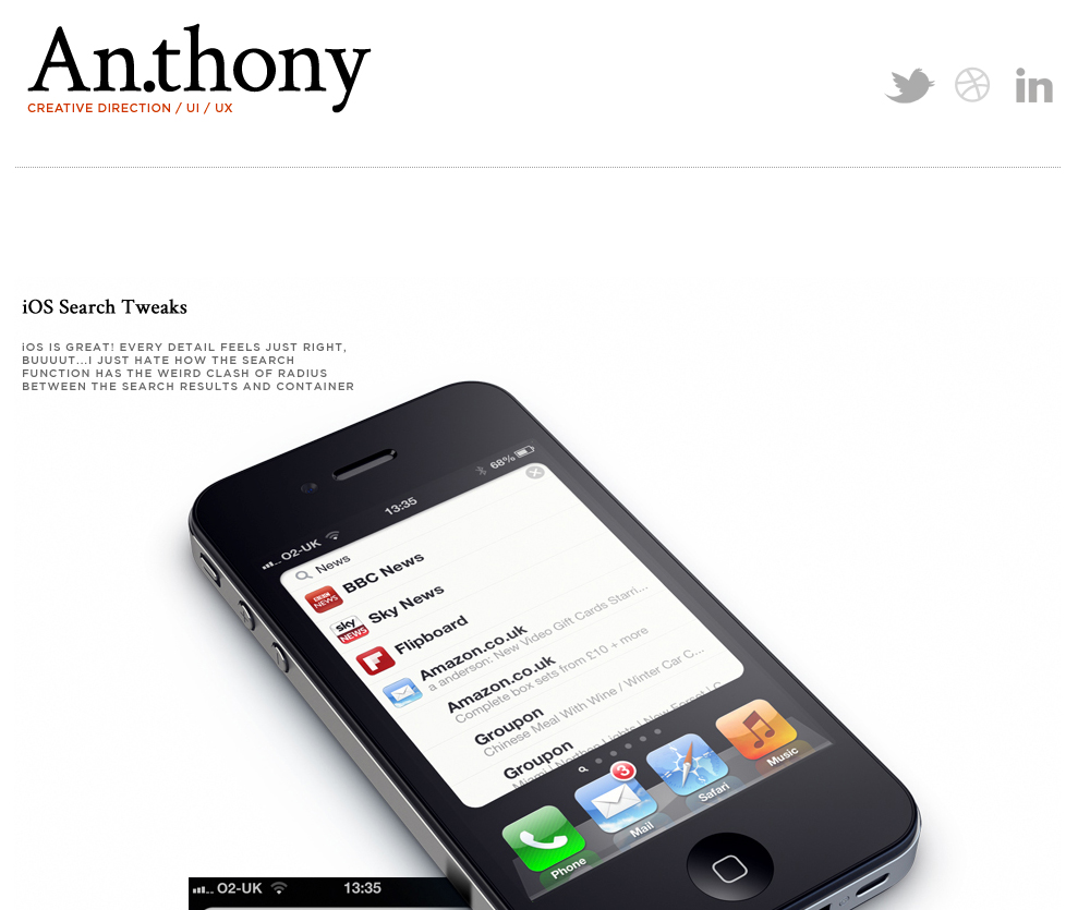 An.thony Website Screenshot