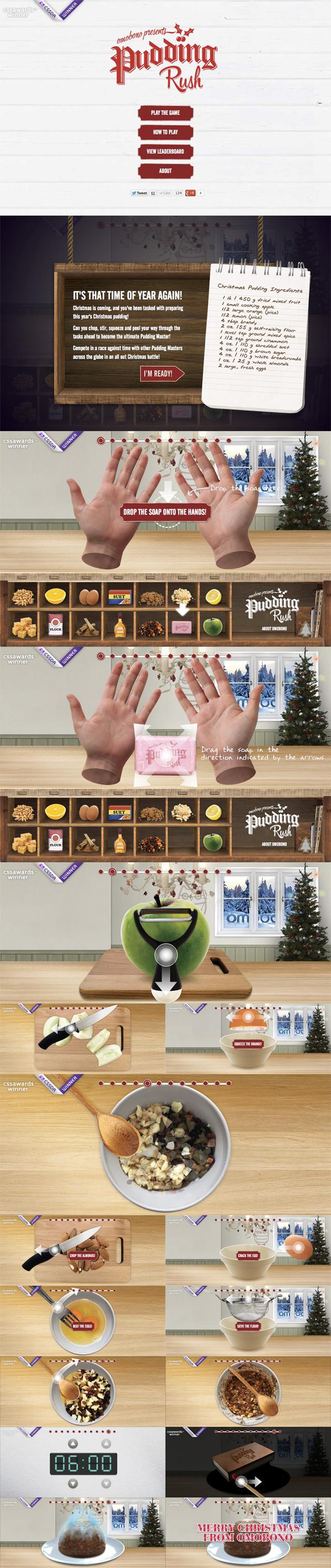 Pudding Rush Website Screenshot