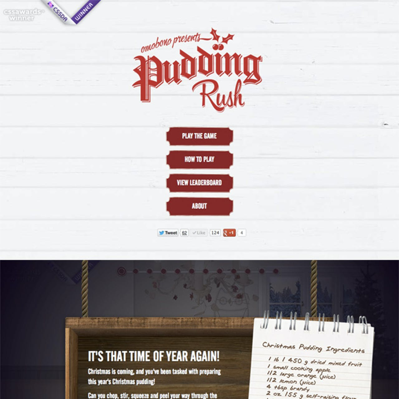 Pudding Rush Website Screenshot