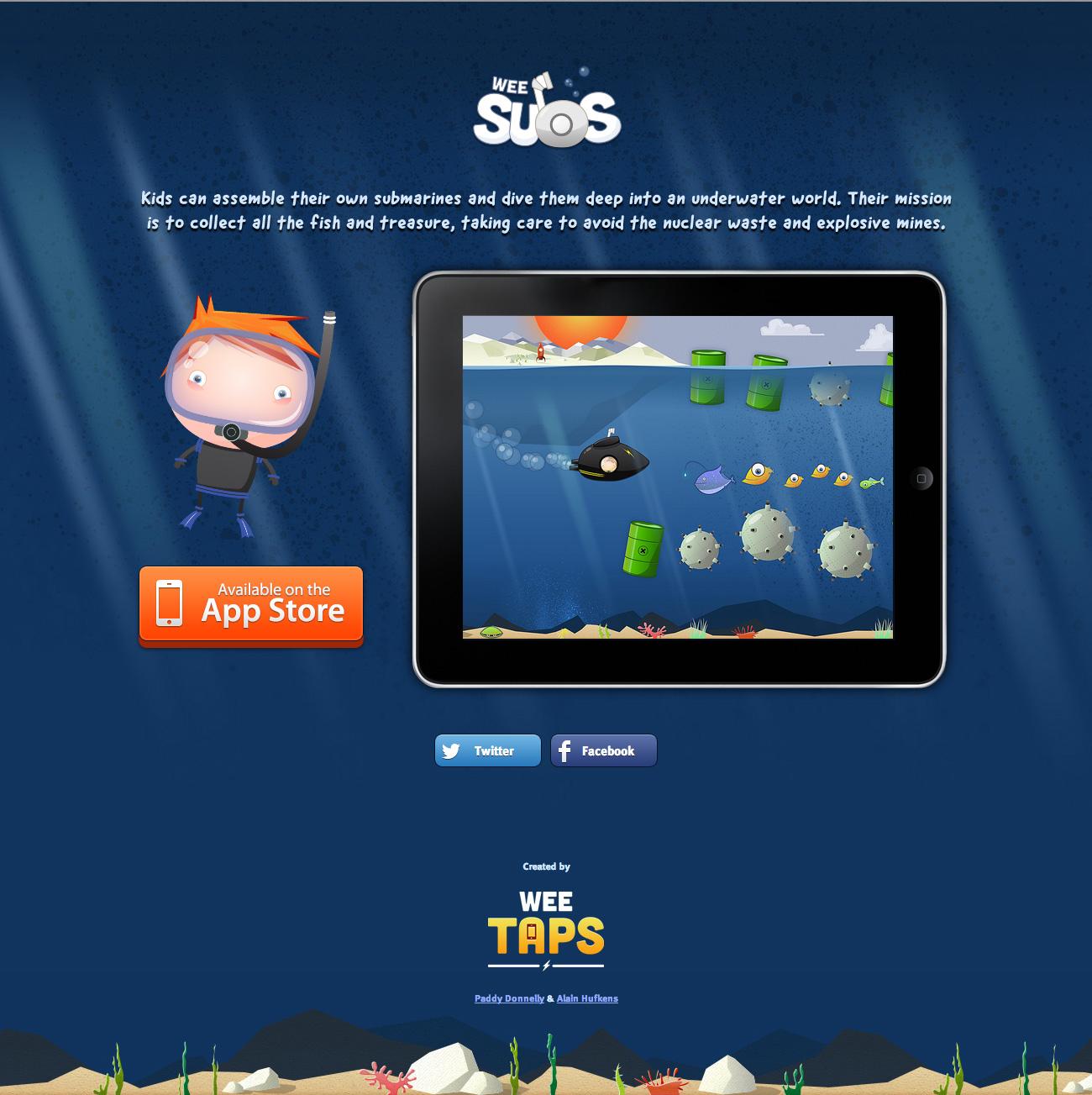 Wee Subs Website Screenshot