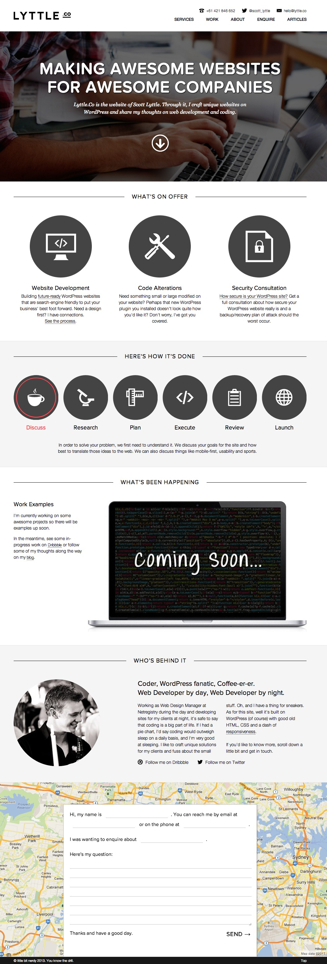 Lyttle Co Website Screenshot