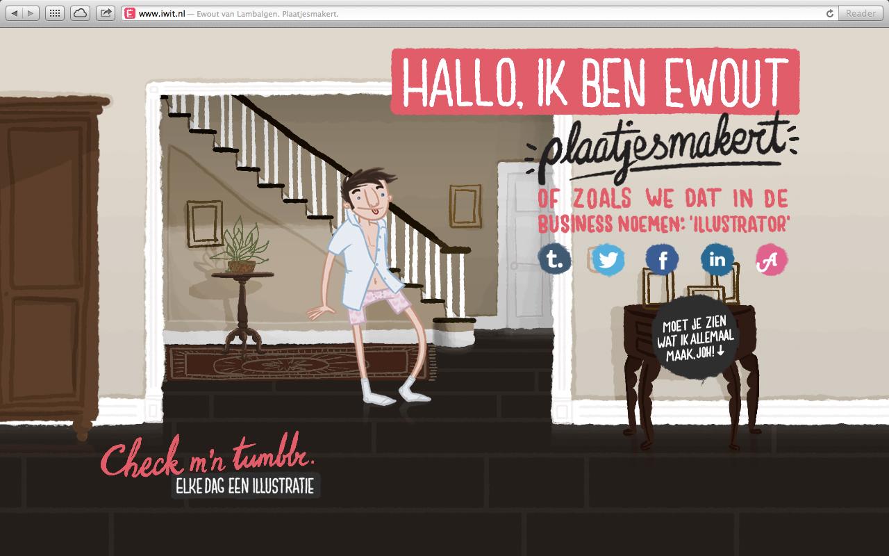 Ewout van Lambalgen. Plaatjesmakert. Website Screenshot