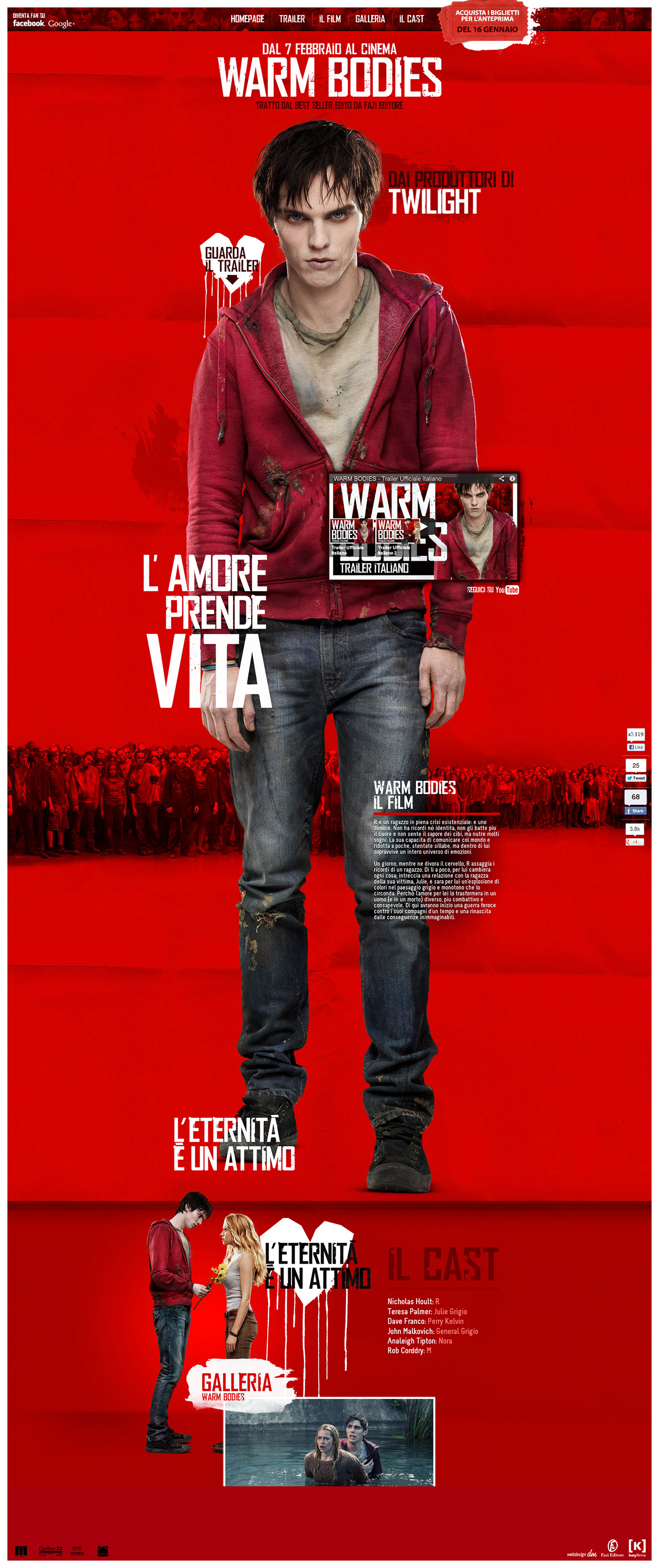 Warm Bodies Website Screenshot