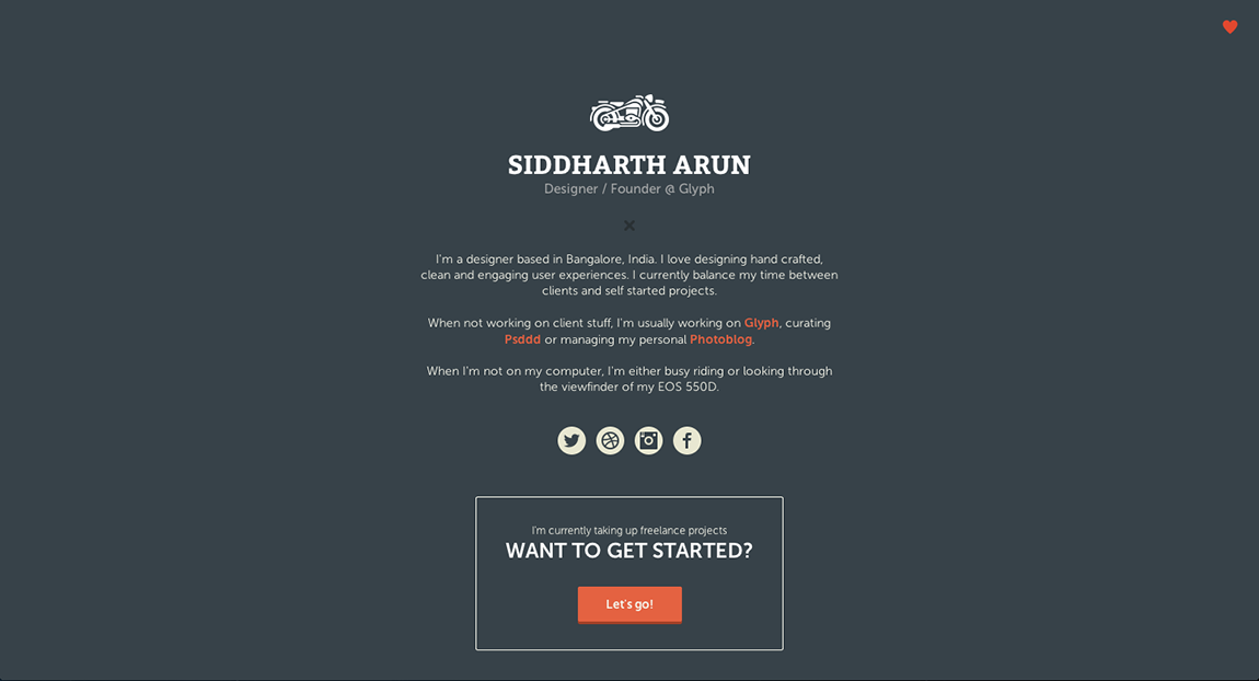 Siddharth Arun Website Screenshot