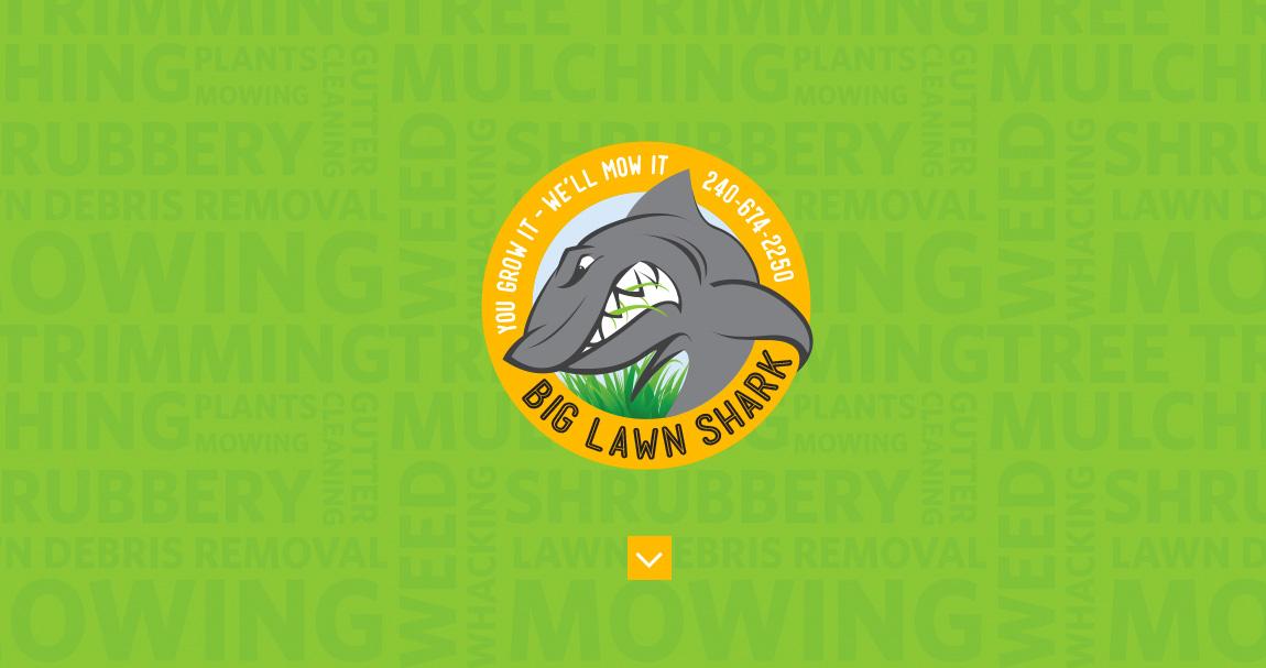 Big Lawn Shark Website Screenshot
