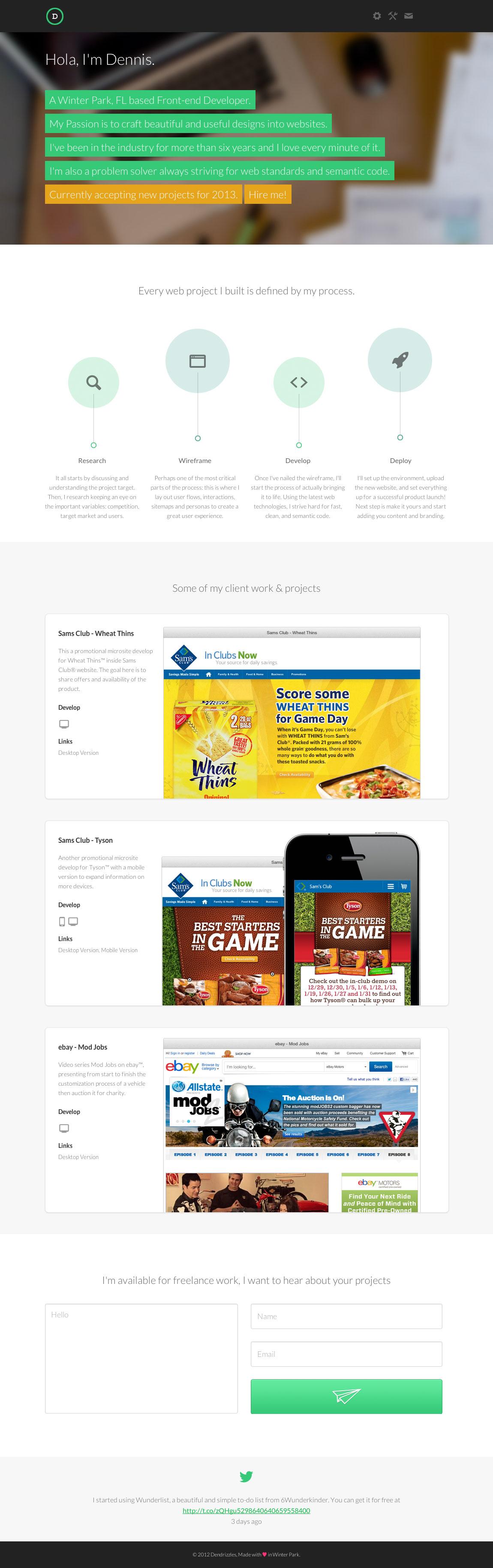 Dendrizzles Website Screenshot