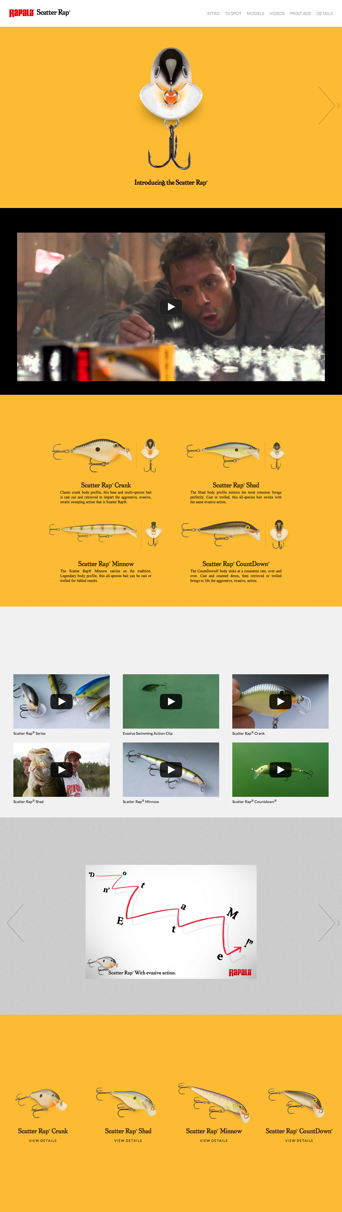 Rapala Scatter Rap Website Screenshot