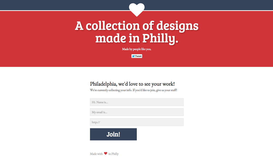 A collection of designs made in Philly. Website Screenshot